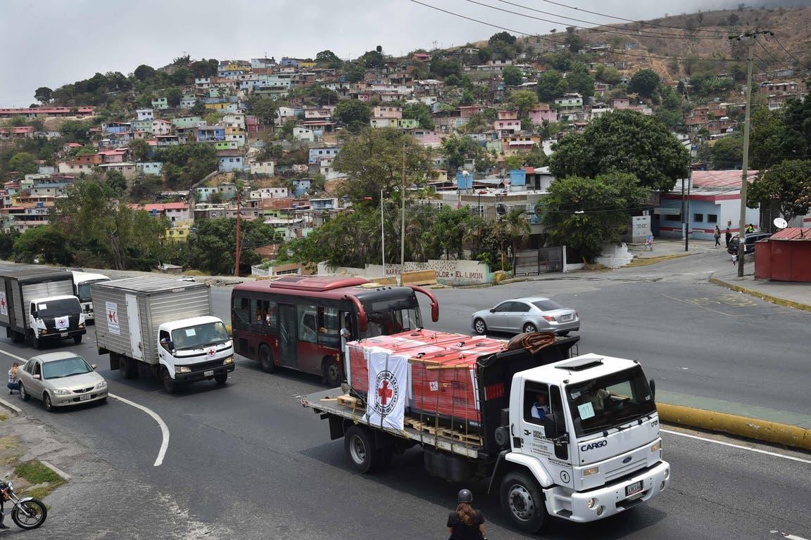 La caravana humanitaria, en Caracas