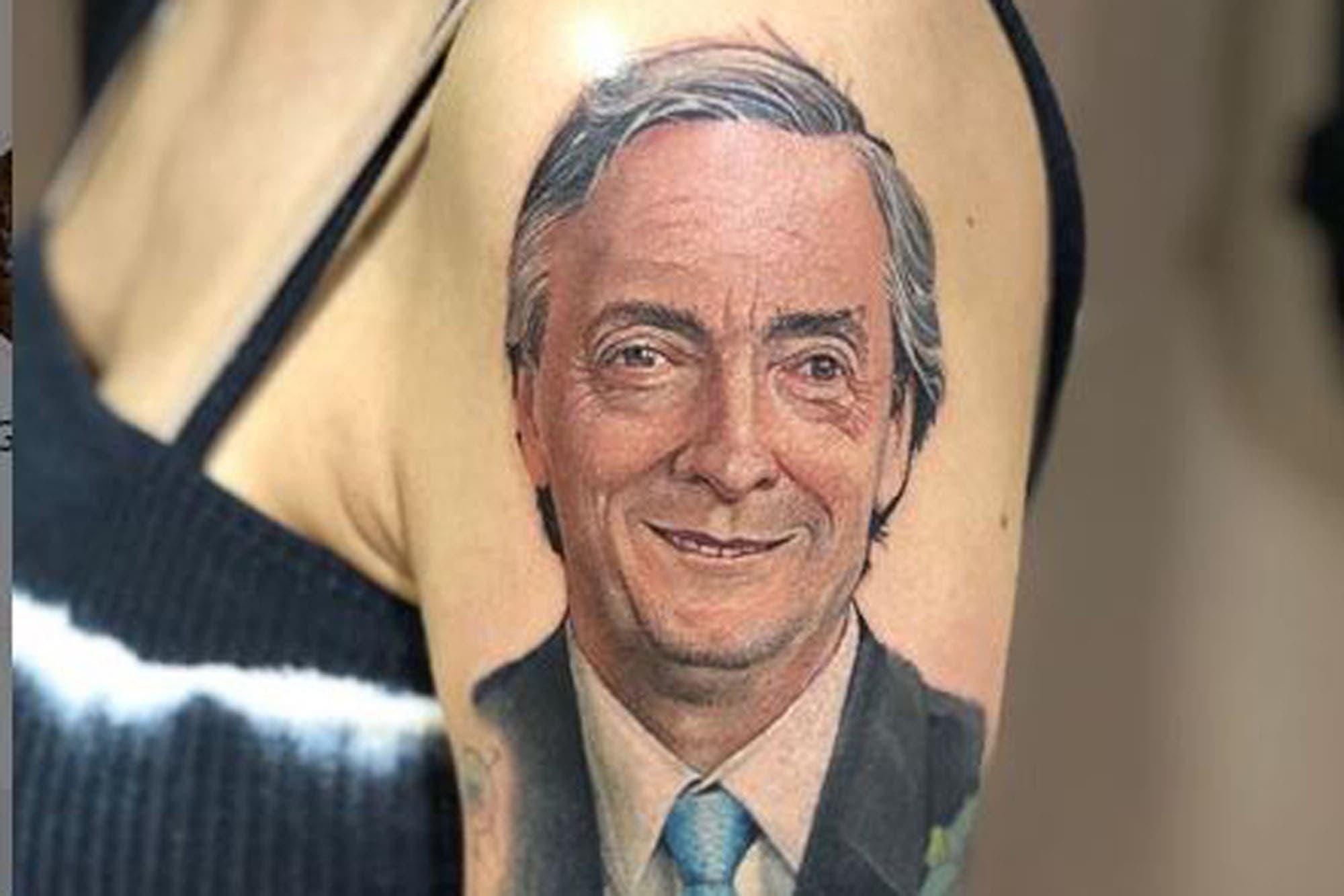 La intendenta electa de Quilmes mostró un impactante tatuaje con la cara de Kirchner