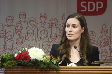 Sanna Marin, de 34 años y perteneciente al partido Social Demócrata, fue nominada al cargo ayer