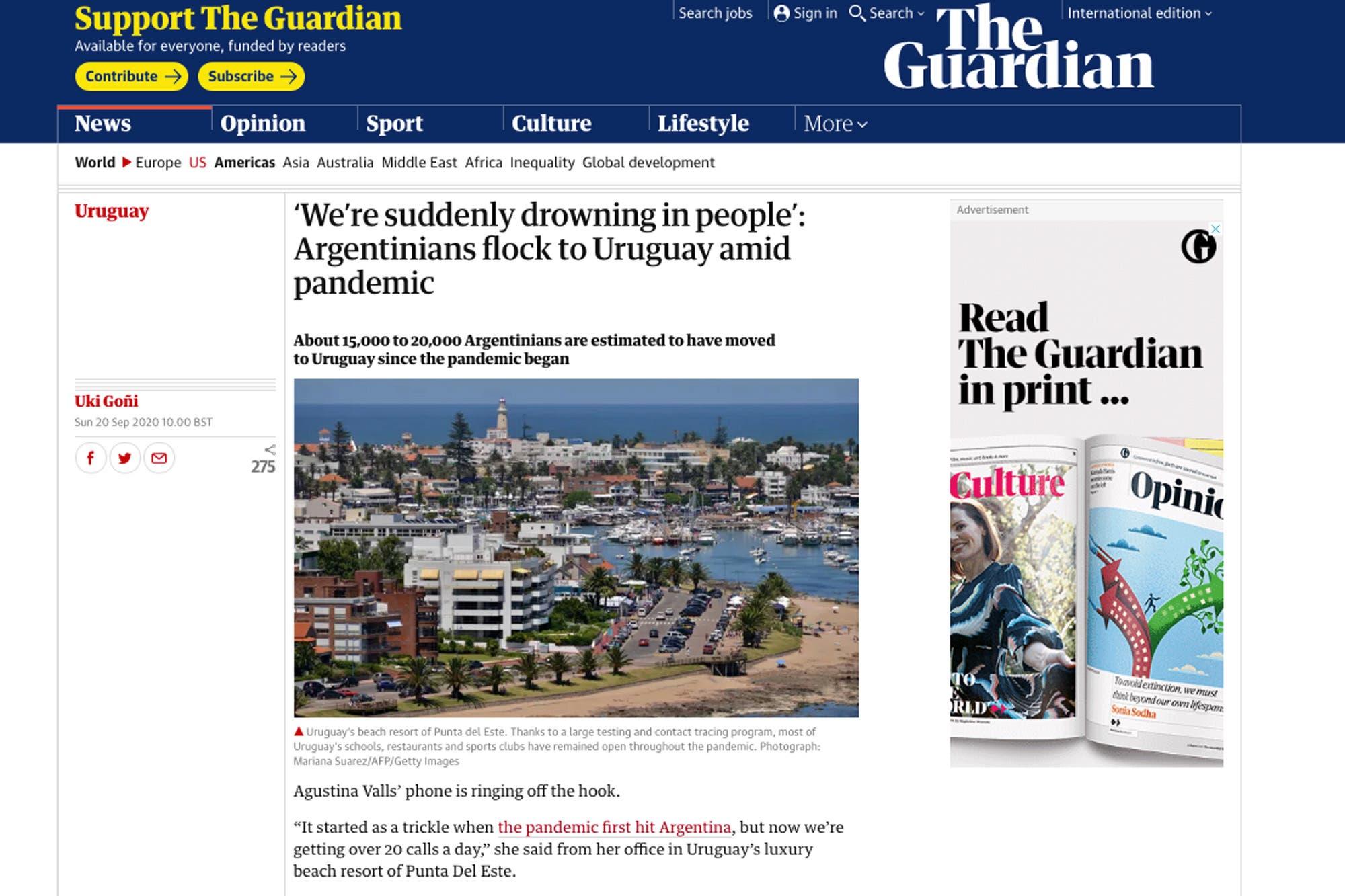 La fuga de empresas y el éxodo a Uruguay, en la prensa británica