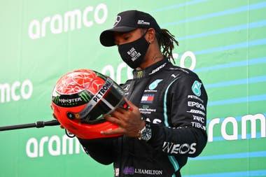 Fórmula 1. El especial regalo del hijo de Michael Schumacher que emocionó a Lewis Hamilton.