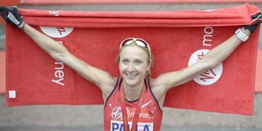 La emoción de Paula Radcliffe, en su despedida