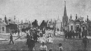 Otro funeral en el Cementerio de la Recoleta, en 1903