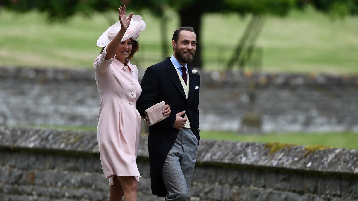 Carole Middleton y James Middleton, madre y hermano menor de Pippa, llegaron a la boda juntos