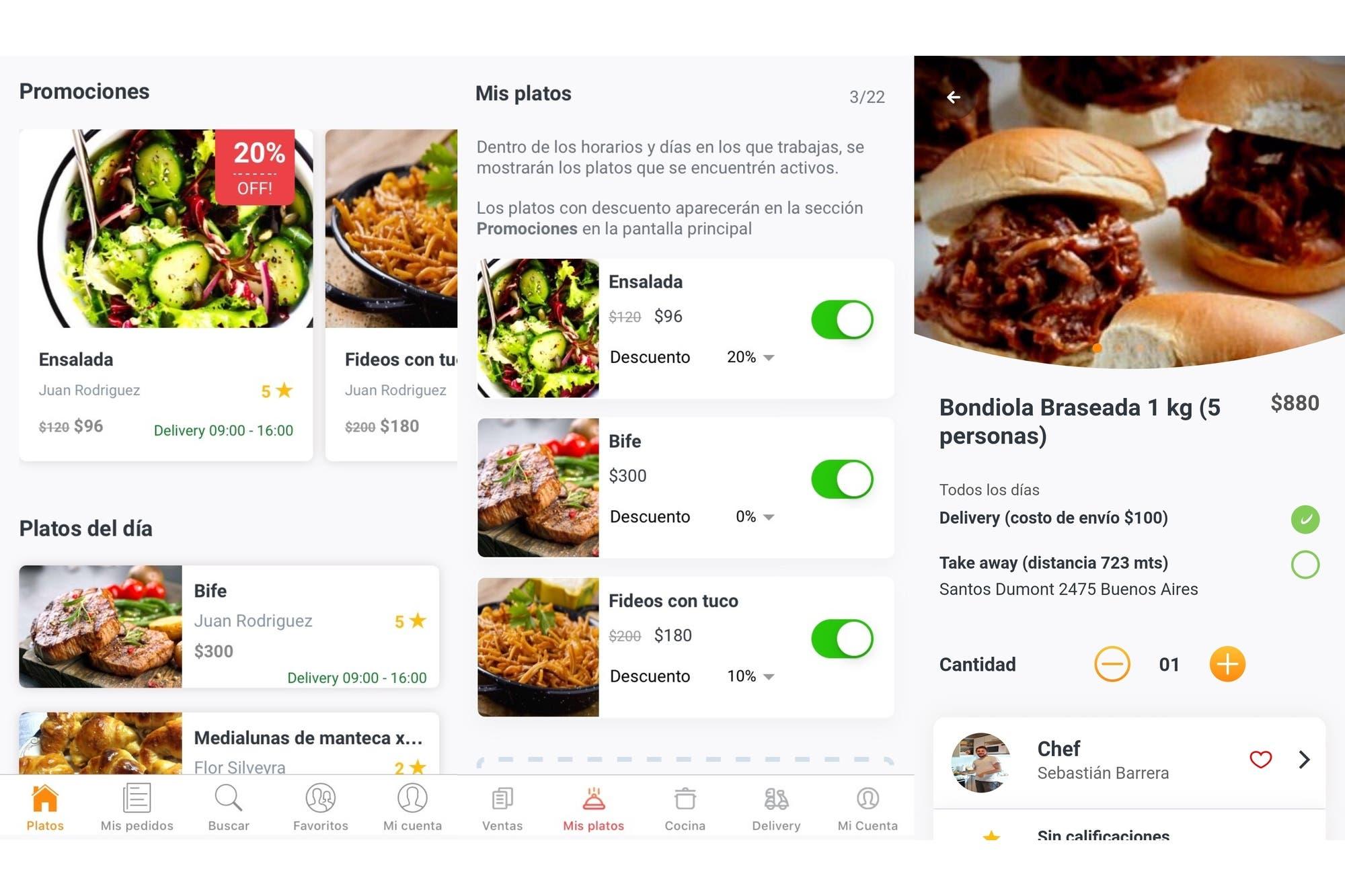 Pinny: así es la aplicación argentina para pedir comida casera o de chefs aficionados