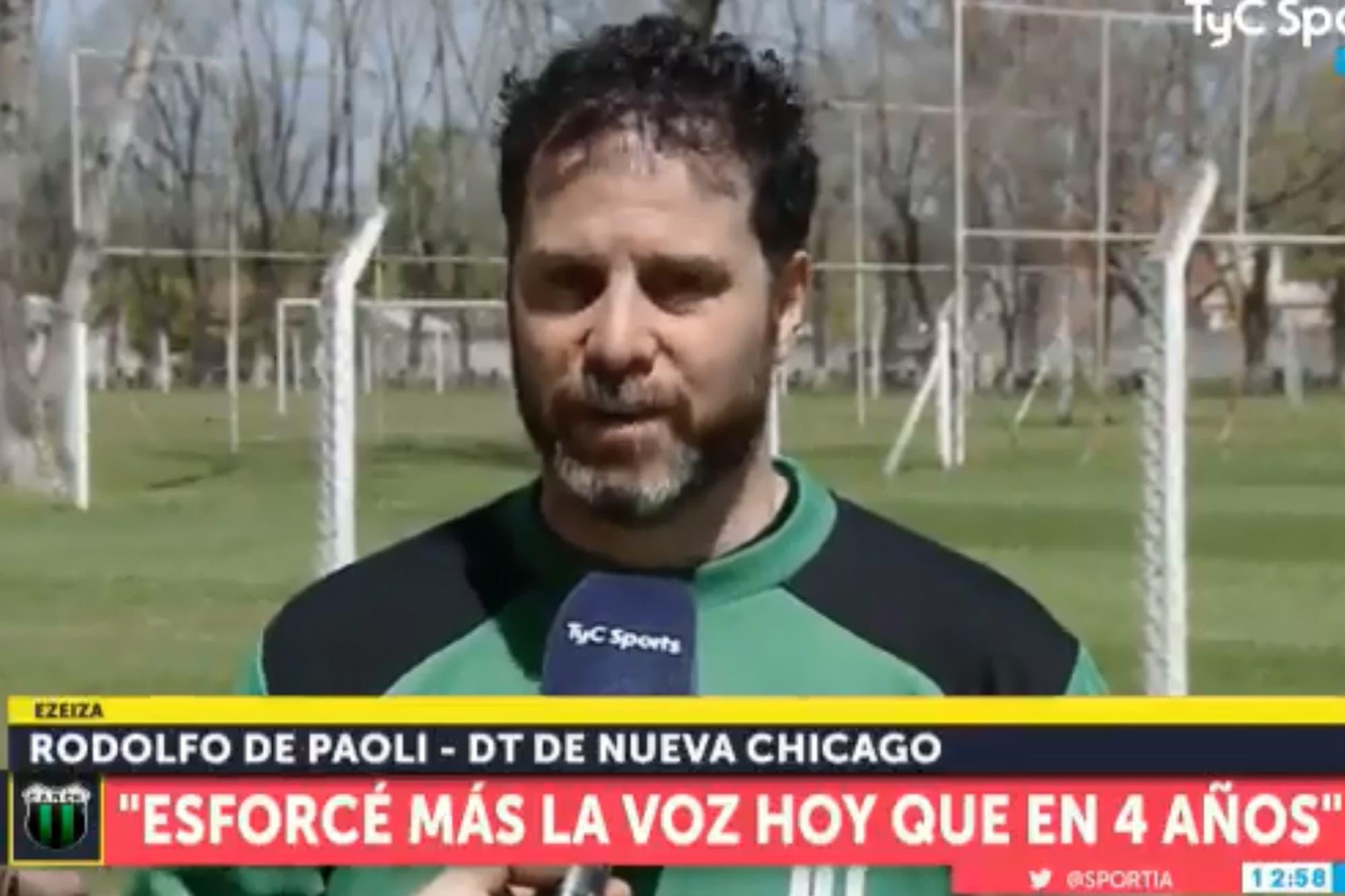 """¡Qué viva el fútbol! El debut de Rodolfo De Paoli y su """"lujo"""", en el empate de Nueva Chicago"""