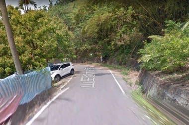 La imagen fue tomada por las cámaras de Google Maps en el camino Shantían en Taichung, Taiwán.