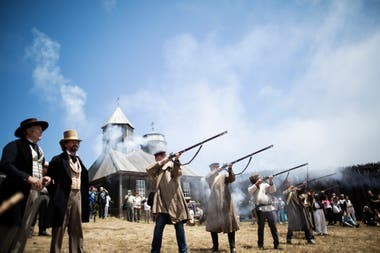 Una recreación histórica en Fort Ross, Jenner, California