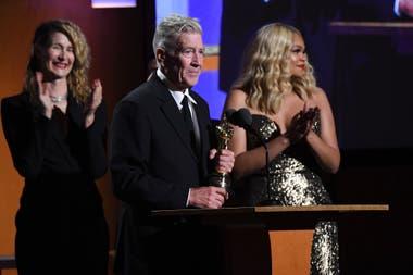 David Lynch al aceptar el premio