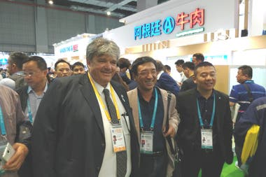 El presidente del Ipcva, Ulises Forte, en la China International Import Expo (CIIE) en Shanghái