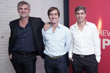 Pablo Saubidet y Daniel Nofal, fundadores de Iplan, junto a Damián Maldini, gerente general de la compañía