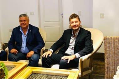 Claudio Tapia y Marcelo Tinelli fueron los dos expositores de la reunión por Zoom con los dirigentes de los clubes de la primera A, que integran la Liga Profesional; cuando aquellos se desconectaron, empezó la discusión.