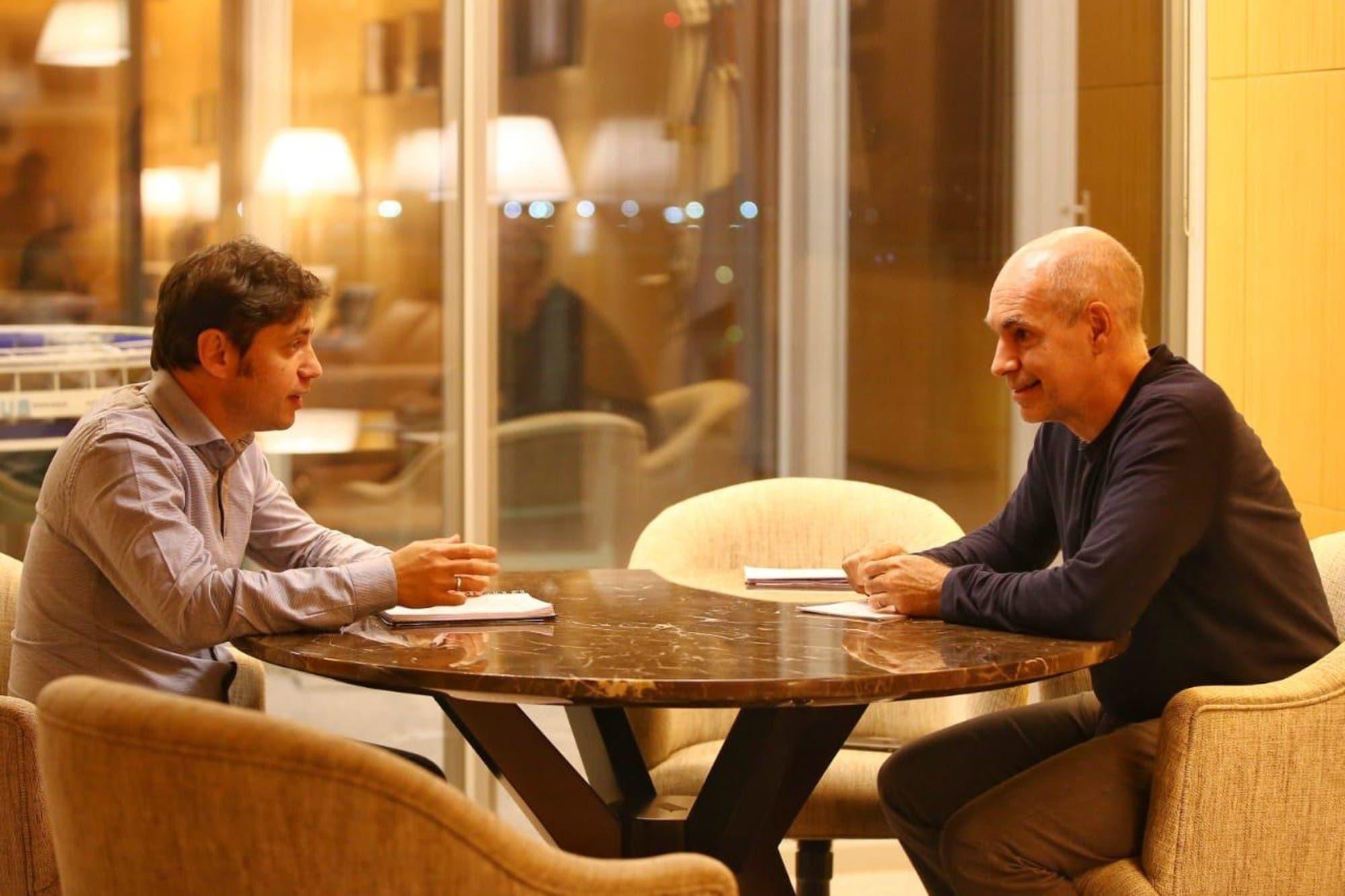 Cumbre entre Horacio Rodríguez Larreta y Axel Kicillof para definir el futuro de la cuarentena