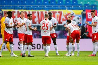 Leipzig, uno de los equipos que estará presente en la etapa final de la Champions League que se jugará en Lisboa y que se enfrentará a Atlético de Madrid