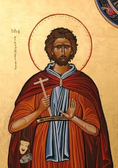 San Ginés fue un actor romano del siglo III. Fuente: Pinterest