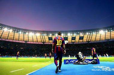 Messi en el Olympiastadion para la Final de la UCL contra el Juventus, el 6 de junio de 2015