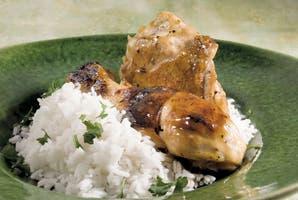 Pollo a la cerveza con arroz