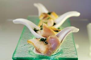 Picadita de pescado con sabayón