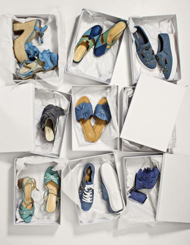 1. Plataforma con volado (The Bag Belt). 2. Zapato tricolor ( 33c6b072285