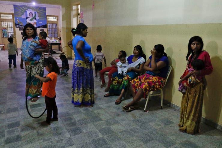 Centro de evacuados en Salta