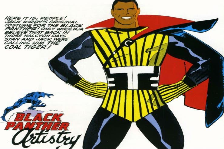 Este fue el diseño original que el dibujante Jack Kirby tuvo en mente para el personaje, cuando aún se llamaba Tigre azabache