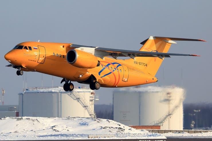 Un An-148, similar al avión siniestrado