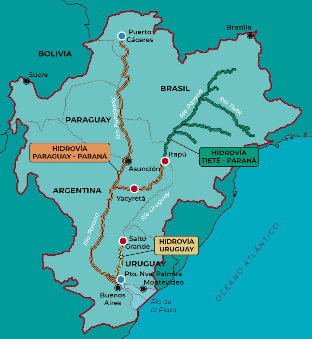 Proponen un proyecto nacional que potenciaría a la hidrovía - LA NACION