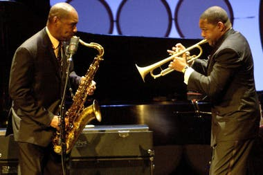 Branford y Wynton Marsalis, en 2014 en una gala a beneficio de Jazz at Lincoln Center