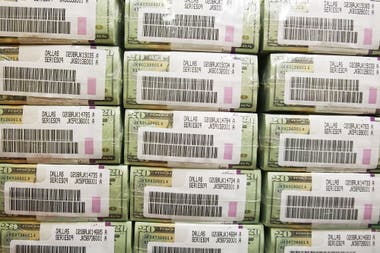 Paquetes de dólares.