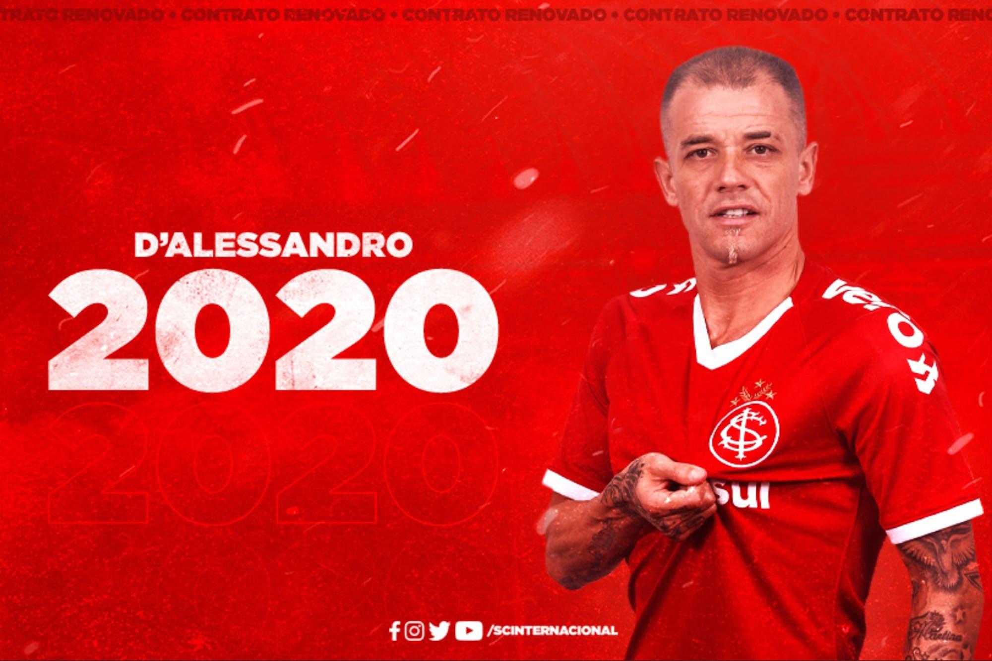 D'Alessandro: la meta que lo motivó para seguir en Internacional de Porto Alegre