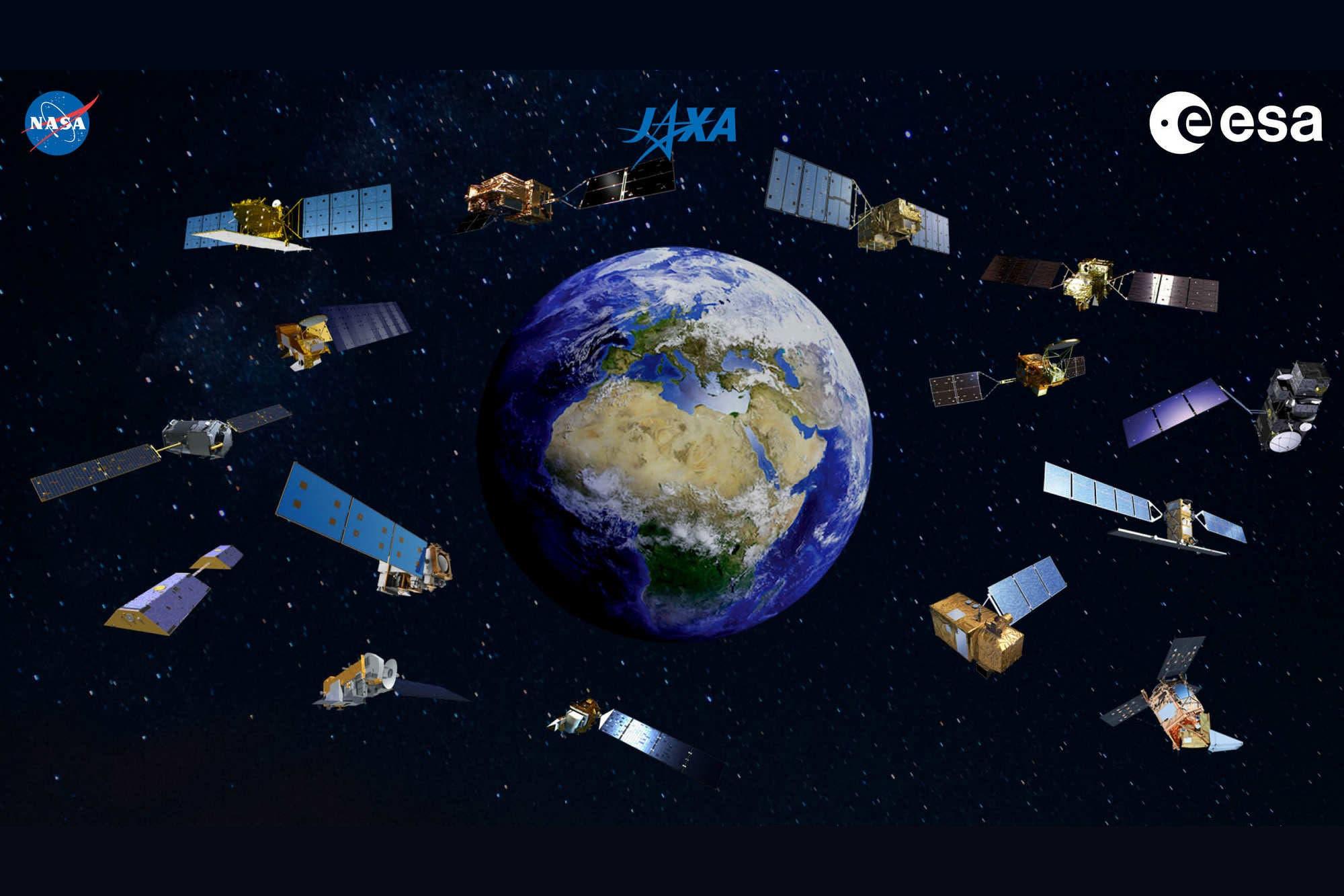 Desde el espacio, Estados Unidos, Europa y Japón analizan el impacto de la pandemia con sus satélites