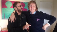 Ringo Starr y Paul McCartney, reunidos en el estudio