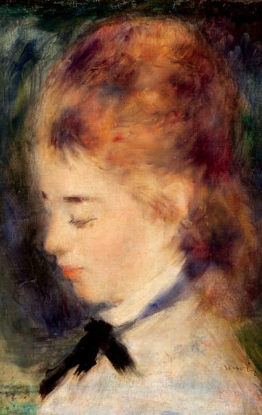 Retrato de mujer de August Renoir