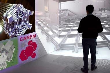 Investigadores del Media.Lab desarrollaron un software de realidad virtual para recorrer las instalaciones del reactor Carem, que se está construyendo en el complejo atómico Atucha