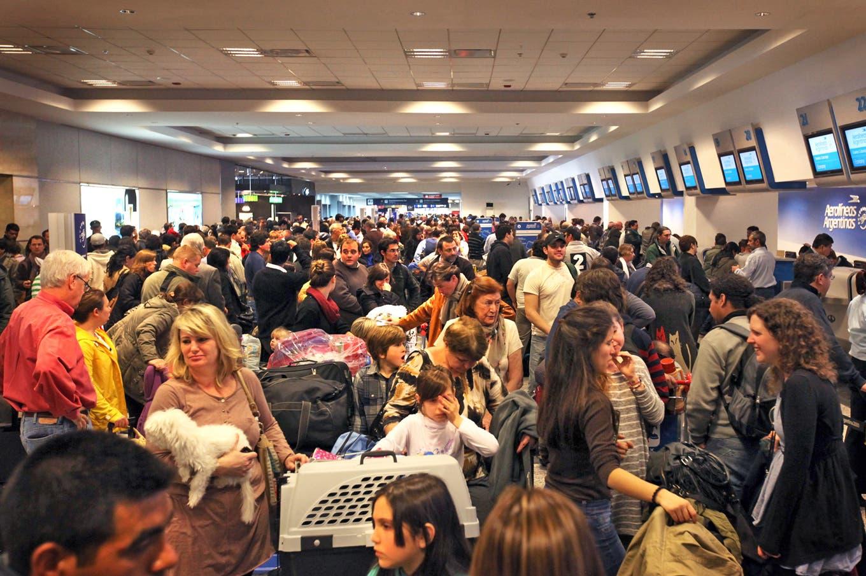 Demoras y cancelaciones en Aeroparque