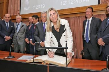La jueza María Eugenia Capuchetti, que a cargo de la causa de las vacunas VIP