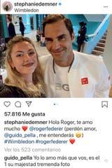La respuesta de Guido Pella a Stephanie Demner en Instagram