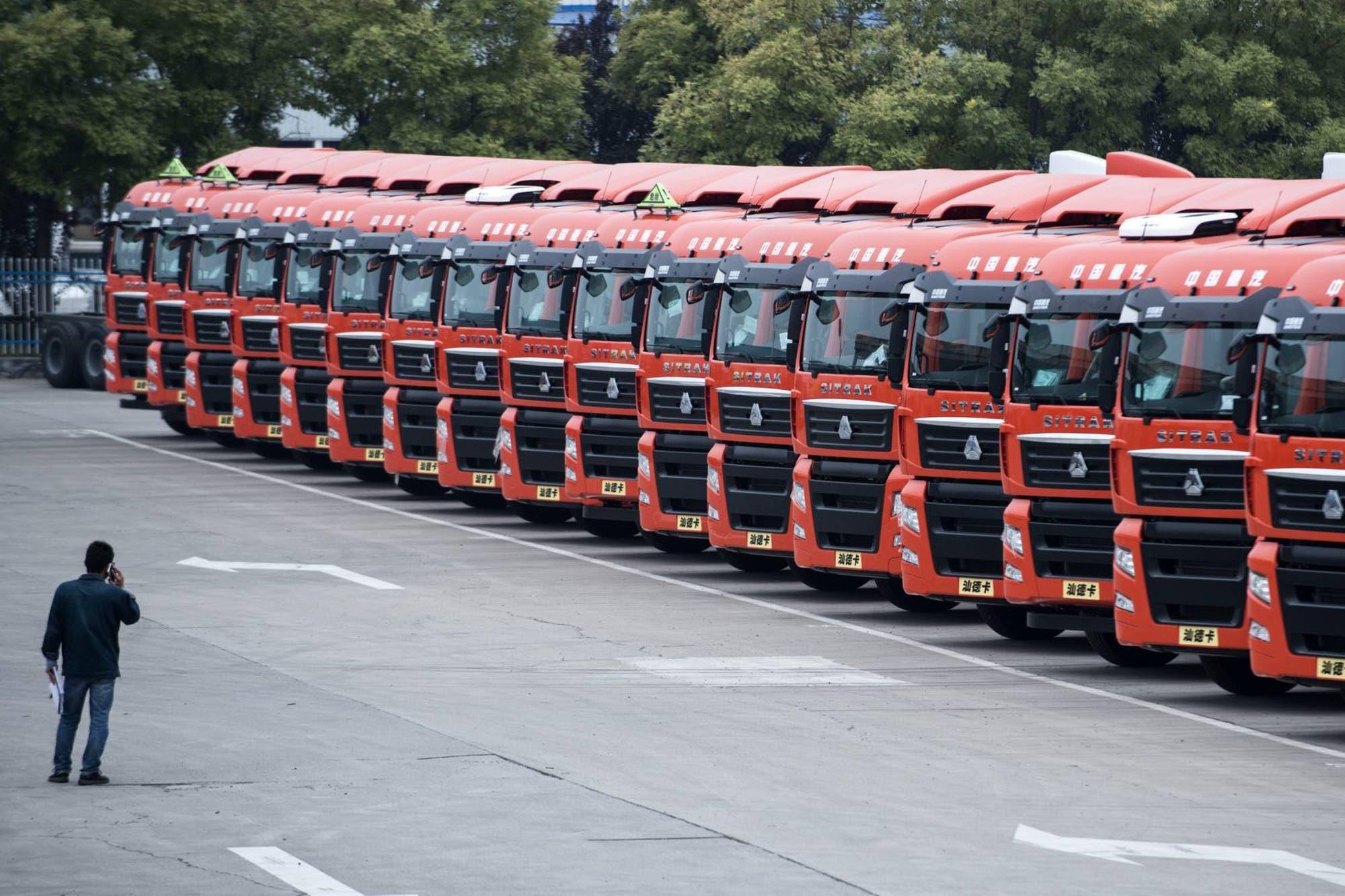 China va a la guerra contra la contaminación en un camión