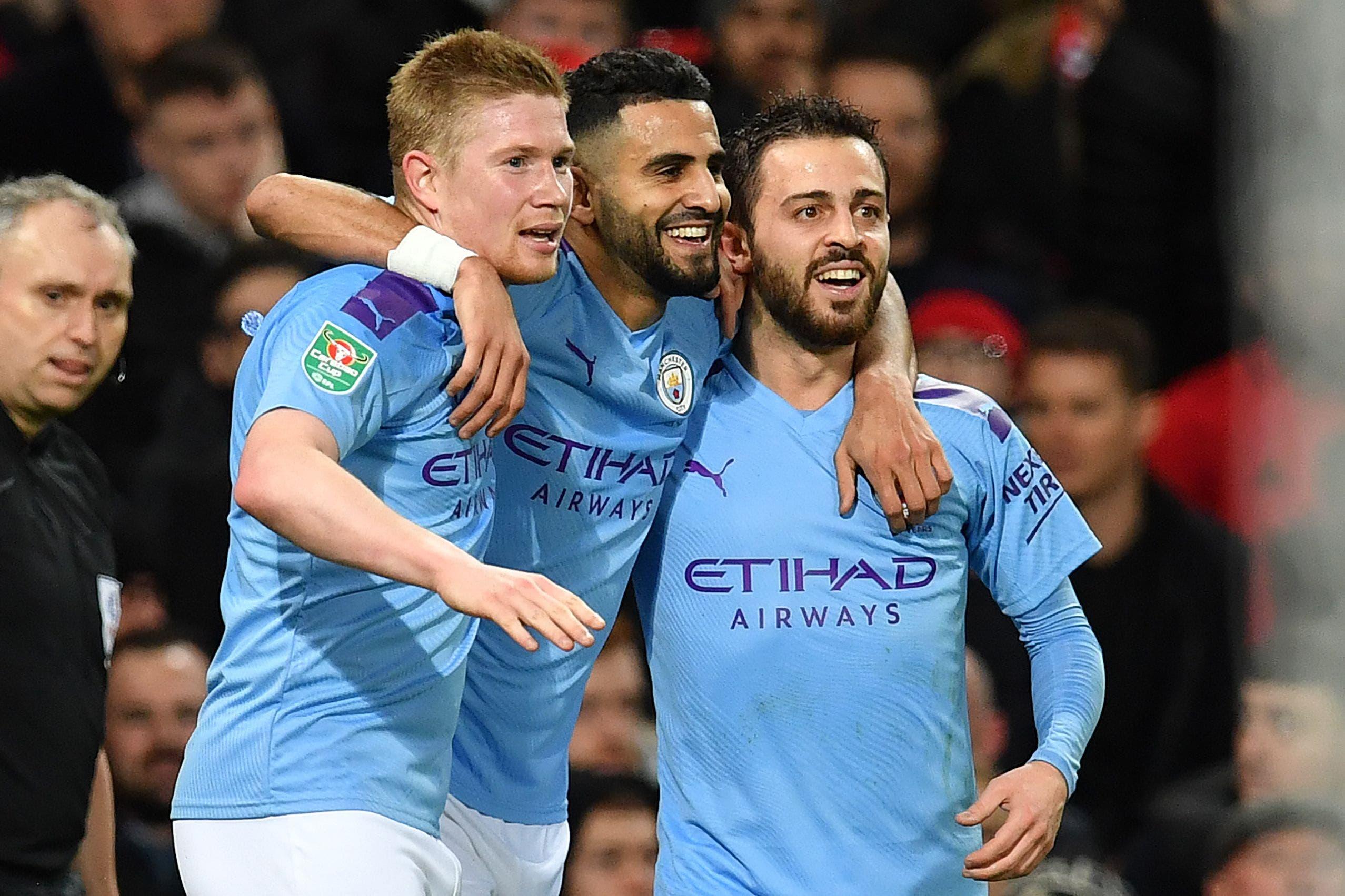 Manchester United-Manchester City: los Citizens ganaron 3-1 la ida de la semifinal de la Copa de la Liga