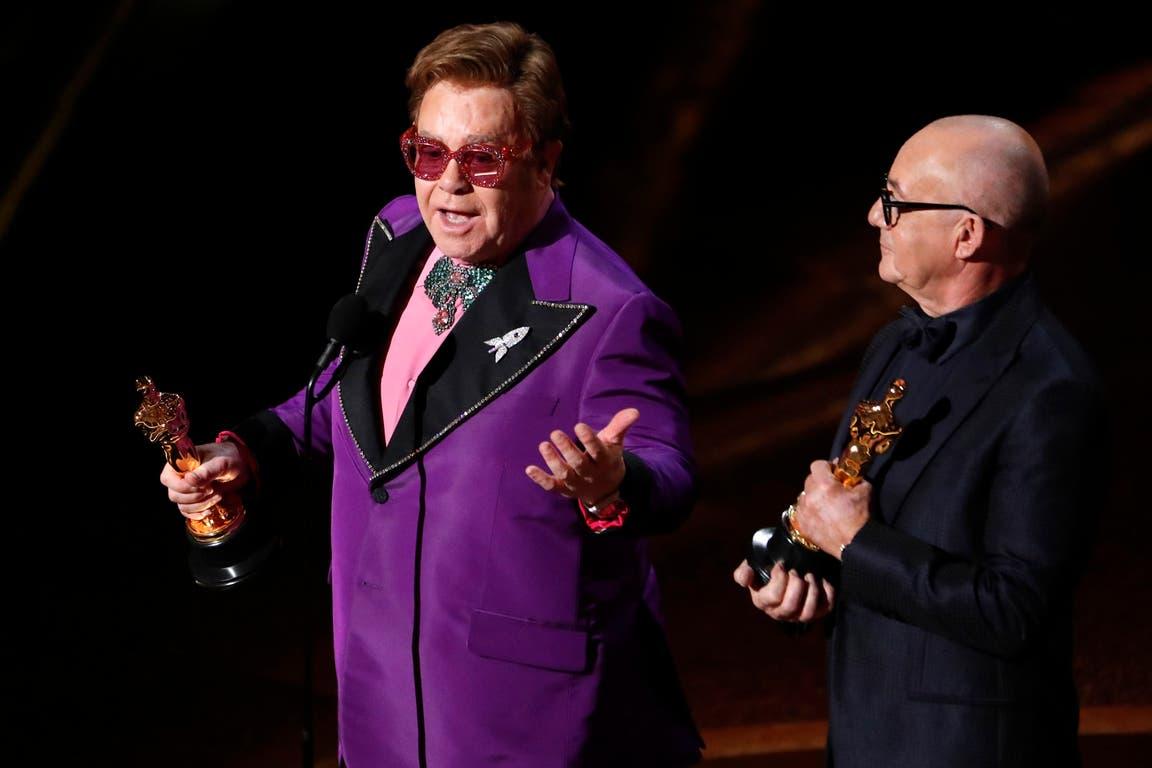 Elton John y Bernie Taupin, ganadores de la mejor canción