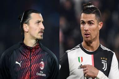 Zlatan y Cristiano se ven las caras esta tarde en Milan - Juventus