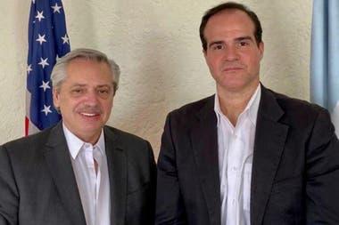 Mauricio Claver-Carone, junto al presidente Alberto Fernández