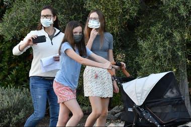 Garner, de paseo con sus hijas