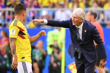 Pekerman, en el Mundial de Rusia 2018, al frente de Colombia