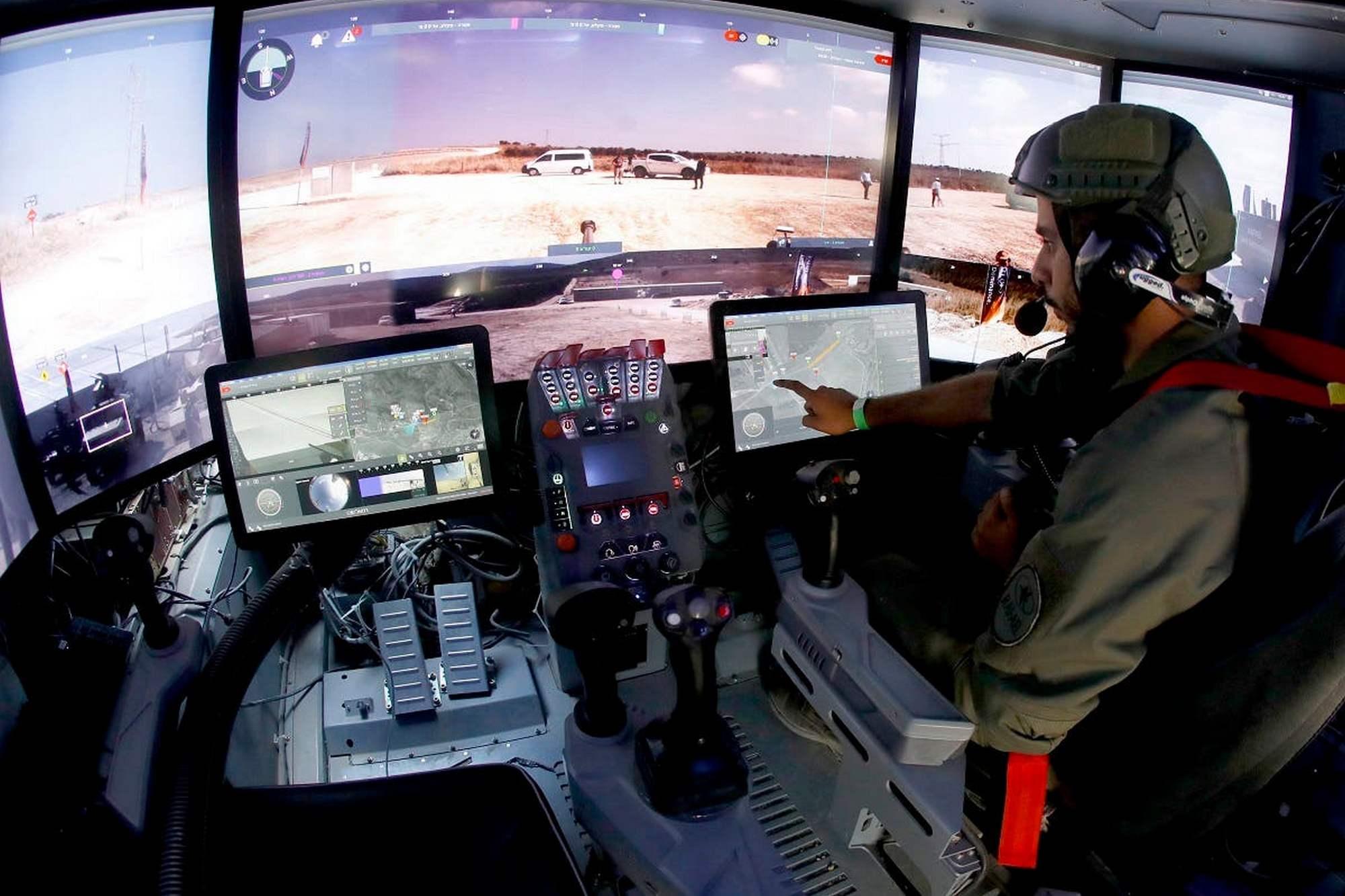 Como en un videojuego: así se maneja el prototipo de tanque de Israel equipado con tabletas y un mando de Xbox