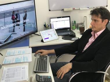 Diego Hartfield, exjugador profesional de tenis, es actual director de Net Finance