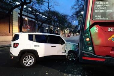 Así quedaron los vehículos, tras el choque