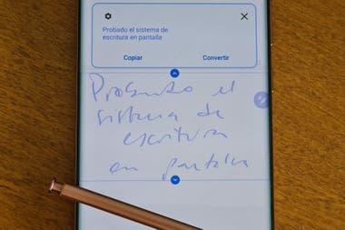 El sistema es muy bueno reconociendo texto manuscrito pero es no infalible