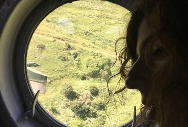 El valle fértil de la disputa, en la ventanilla del helicóptero