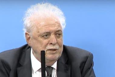 El ministro Ginés Gónzalez García en la conferencia de este martes